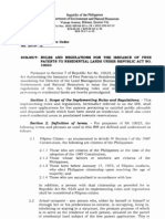 Residential Free Patent Act RA10023 Irr