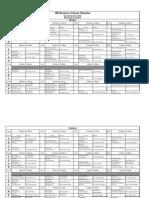 Time Table Sem II, Class 2014 w.e.f 02.11.2012