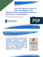 ANAFINET. Obligaciones Fiscales Asamblea Accionistas
