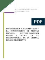 PRODECON. Libro V. Condonación Multas Fiscales