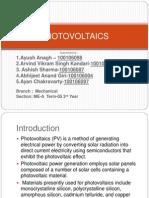 Ncer Presentation on Photovoltaics