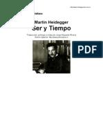 Heidegger . Ser y Tiempo