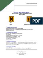 MSDS Sulfato de Cobre