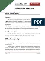 Education Policy 1979 by Saleem
