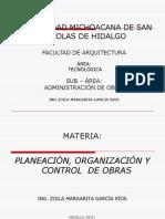 Planeaciprogramcin y Control de Obra