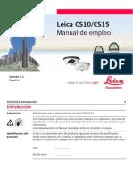Leica CS10 CS15 UserManual Es