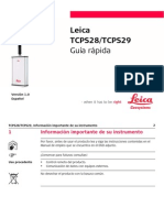 Leica TCPS28 TCPS29 QuickGuide Es
