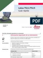 Leica TS11 TS15 QuickGuide Es