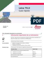 Leica TS12 QuickGuide Es