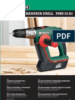 Cordless Hammer Drill Manual PSBS 24 A1