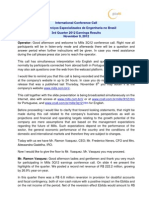 3Q12 Conference Call Transcription
