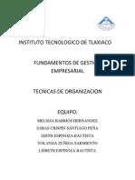 Tecnicas de Organizacion