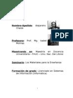 Seminario Materiales para la Enseñanza en La Universidad MDU FHUC 2011 CHAIZE ALEJANDRO