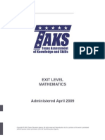 Math Texas TAKS With Answers 2009