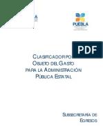 Clasificador Por Objeto Del Gasto 2011