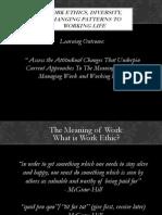 Employment Relations Work Ethics and Diversity Presentation (ePortfolio)