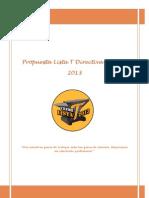 Propuesta Lista T Directiva CEEMET 2013