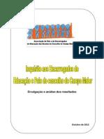 Relatório dos inquéritos da Associação de Pais