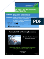Making the Shift to Marketing Experiential Travel