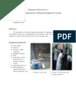 Soil mechanics laboratory exercise