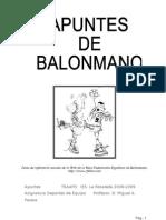 Apuntes Balonmano TSAAFD 2008-2009 IES La Rosaleda Malaga
