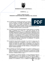 Reglamento Ambiental Para Actividades Mineras en La Republica de Ecuador