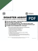 FEMA Disaster Assistance