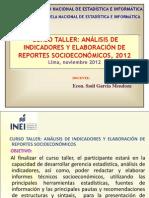 Tema 1 Introduccion Curso Taller Analisis de Indicadores Enei Lima Noviembre 2012 Ok
