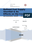 Refined Fuel Supply Shortfall