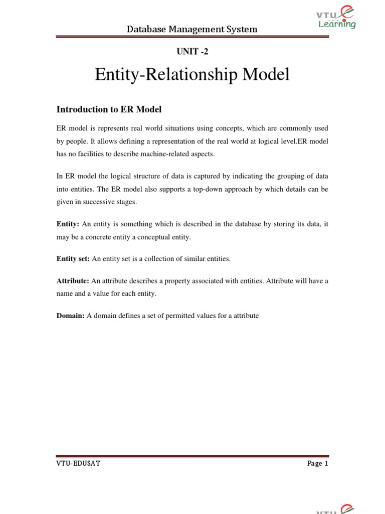 VTU 5TH SEM CSE DBMS NOTES | Conceptual Model | Relational