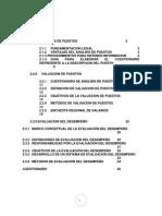 SISTEMAS DE ANALISIS Y EVALUACION DE PUESTOS; Y EVALUACION DEL DESEMPEÑO