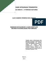 MANDADO DE INJUNÇÃO X AÇÃO DIRETA DE INCONSTITUCIONALIDADE POR OMISSÃO