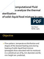 10 - Thermal Sterilization Food Mixture in Cans