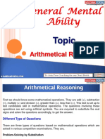 General Mental Ability Arithmetical Reasoning