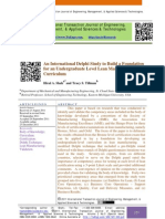An International Delphi Study to Build a Foundation for an Undergraduate Level Lean Manufacturing Curriculum