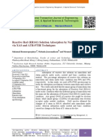 Reactive Red (RR141) Solution Adsorption by Nanochitin Particle via XAS and ATR-FTIR Techniques