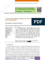 A Study of Hole Drilling on Stainless Steel AISI 431 by EDM Using Brass Tube Electrode