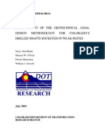 Axial Design of Drilled Shafts Research Report