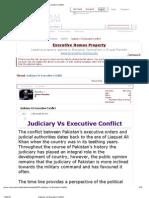 Judiciary vs Executive Conflict