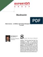 Experton Group Marktsicht;Shareconomy – zu Risiken und Nebenwirkungen fragen Sie Ihren Verstand