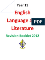 y11english lang and lit revision booklet