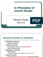 (1) Basic Principles of Research Design