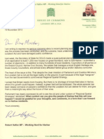 Letter to David Cameron Objecting to Gilden Way