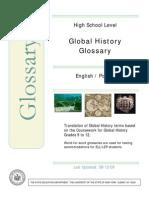 Global History Bilingual Glossary Polish-English