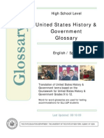 US History Government Bilingual Glossary Spanish-English