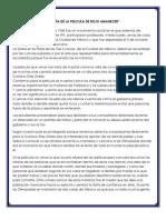RESEÑA DE LA PELICULA DE ROJO AMANECER