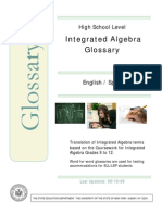 Algebra Bilingual Glossary Spanish-English