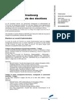 Résultats des élections aux conseils centraux de l'Université de StrasbourgVD2