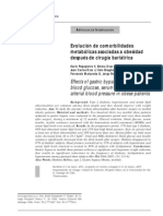 Evolución de comorbilidades metabólicas asociadas a obesidad después de cirugía bariátrica