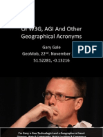 Of W3G, AGI And Other Geographical Acronyms